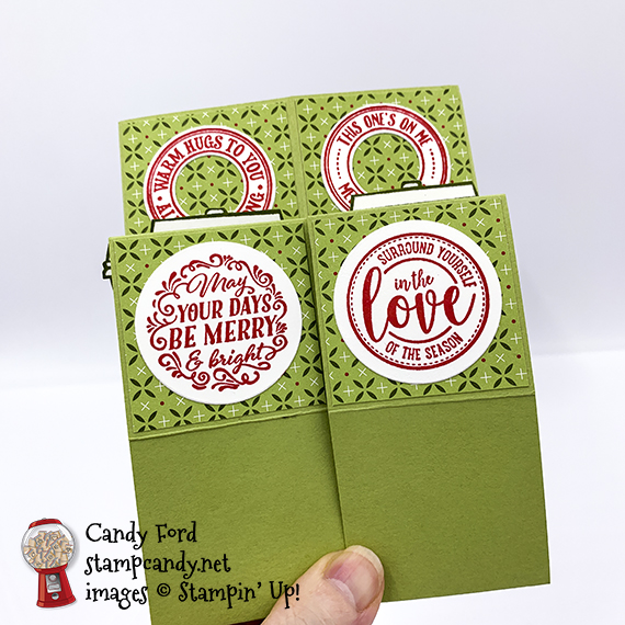 Triple Cube Card made with the Heartwarming Hugs Suite Collection, Press On stamp set, Ornate Frames Dies, and Layering Circles Dies #stampcandy #handmadecards #triplecubecards #stampinup #christmas #christmascards