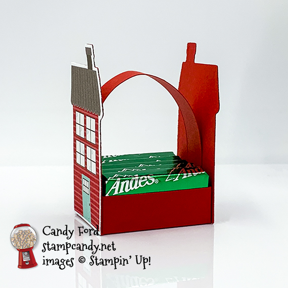 Trimming the Town Andes mints treat holder #stampcandy #christmas #treatholder #stampinup