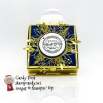 Wishes & Wonder Bundle, Gold Mini Pizza Boxes, Forever Gold Laser Cut Paper, Brightly Gleaming DSP #stampcandy #handmadecards #stampinup #icsbh
