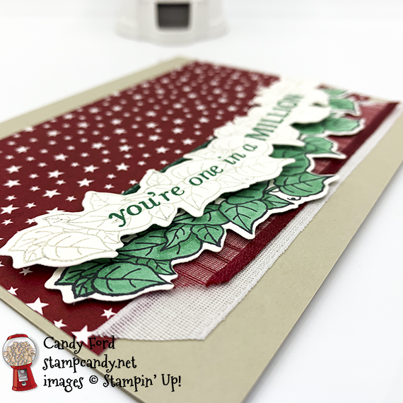 You're one in a million card made with the Quite Curvy stamp set, Curvy Dies, and Classic Christmas Designer Series Paper #stampcandy #stampinup #handmadecards