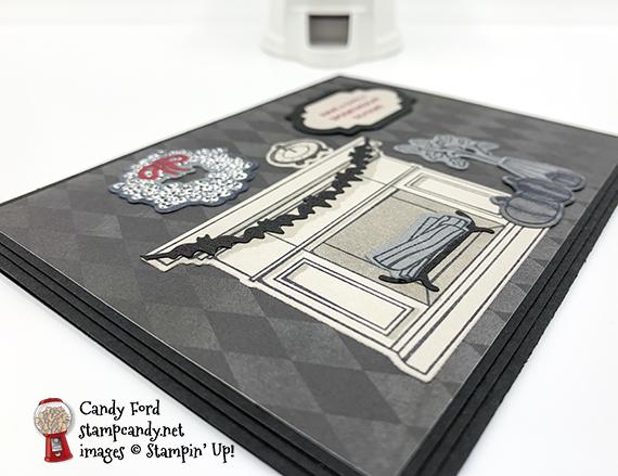 Fireside Trimmings Bundle Halloween card #stampcandy #handmadecards #stampinup