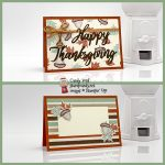 Gilded Autumn Word Wishes Happy Thanksgiving place card stampcandy a