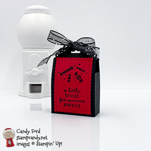 Little Treats Bundle card and treat holder #stampcandy
