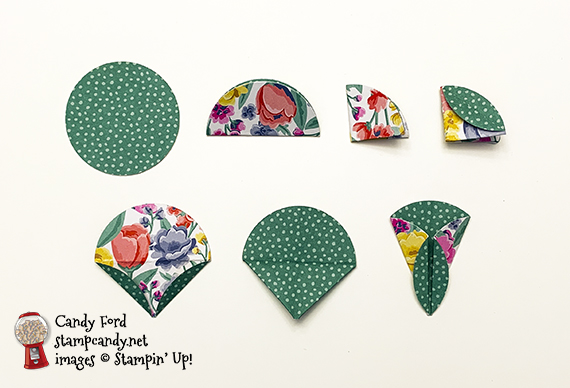 Tasteful Touches Origami Flower card #stampcandy