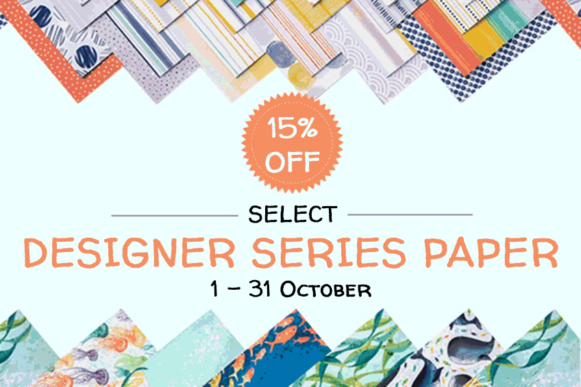 Designer Series Paper Sale, 1-31 October 2020 #stampcandy #stampinup