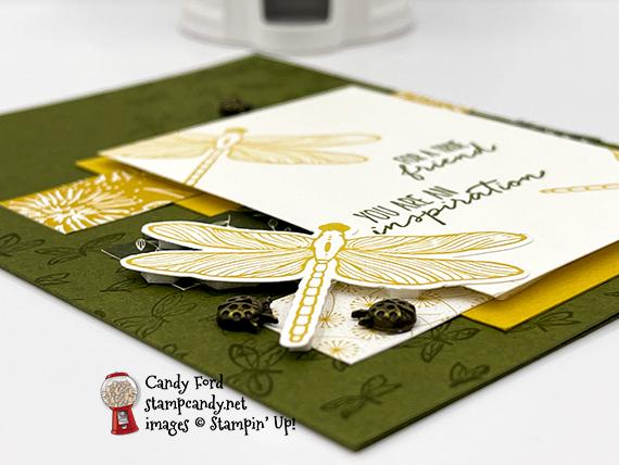 Dragonfly Garden Bundle, Dandy Garden Designer Series Paper thank you card #stampcandy