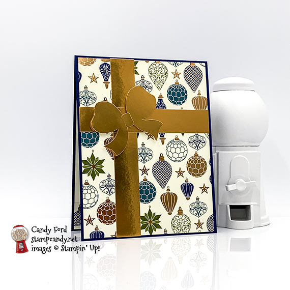 Gift Wrapped Bundle, Celebrate in style Christmas Card #stampcandy