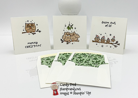 Give A Hoot gift enclosure cards and envelopes #stampcandy