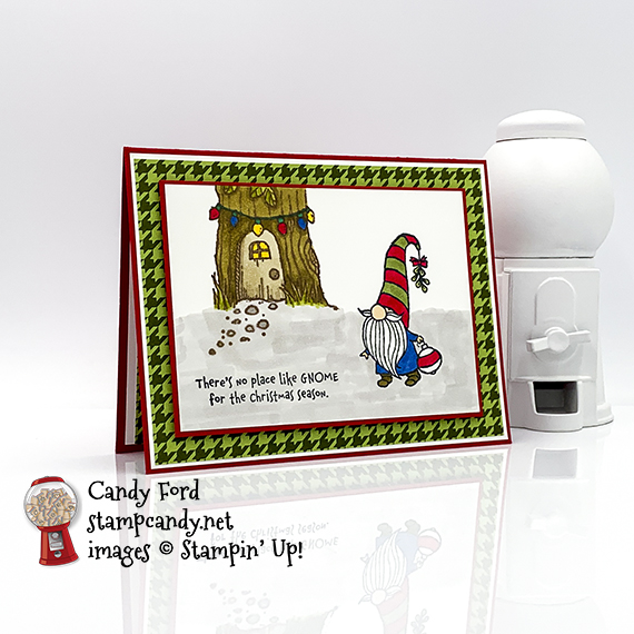 No Place Like Gnome for the Holidays card #stampcandy