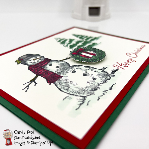 Snow Wonder Happy Christmas card #stampcandy