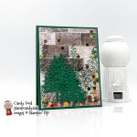 In the Pines envelope shaker card #stampcandy