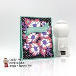 Always in My Heart stamp set, Floral Heart Dies, Many Layered Blossoms Dies, True Love Designer Series Paper, happy anniversary card #stampcandy