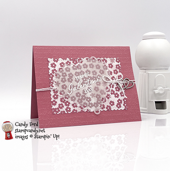 Hearts & Kisses Scripty galentine's day card #stampcandy