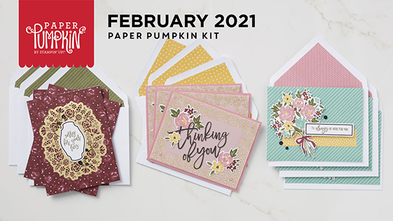 Bouquet of Hope Paper Pumpkin Kit February 2021 #stampcandy
