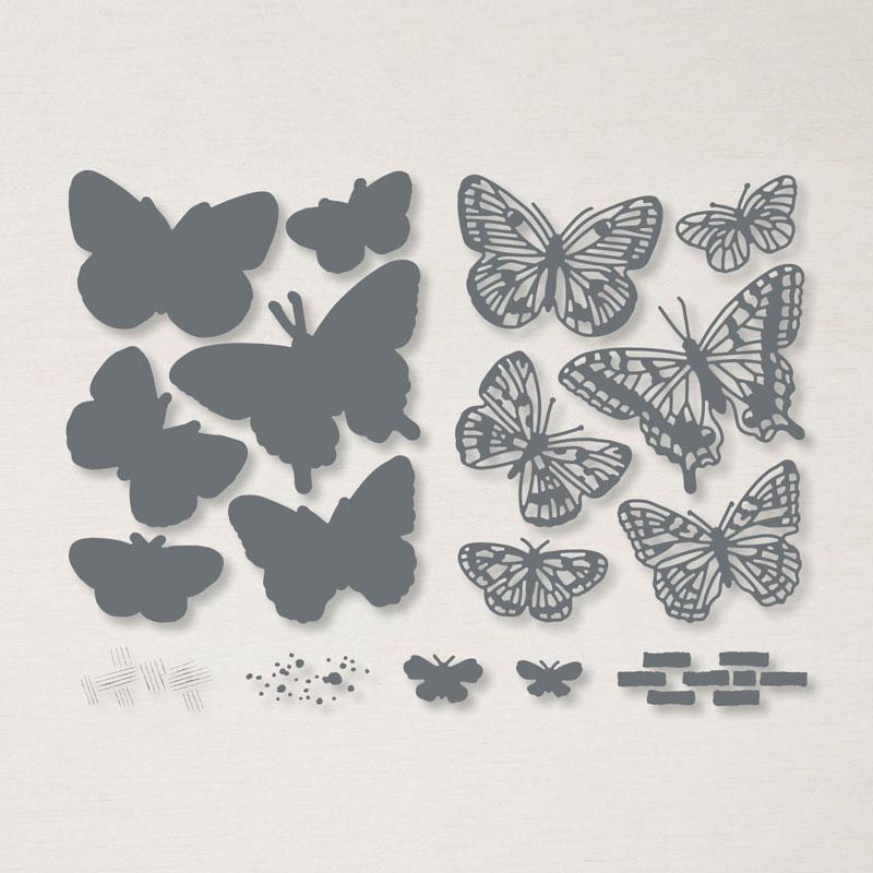 Brilliant Wings dies #stampinup #stampcandy