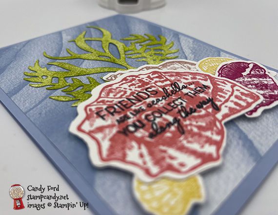 Sand & Sea pieced card #stampcandy