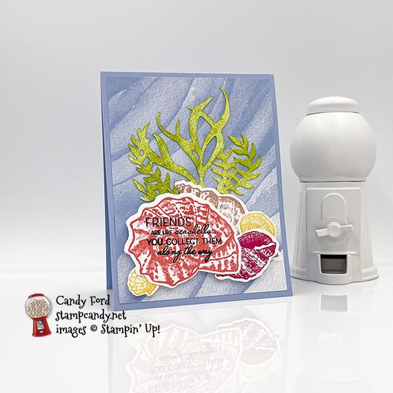 Sand & Sea Pieced Seashells Card