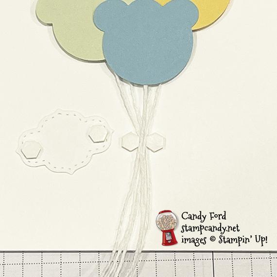 So Sentimental Ice Cream Bear Balloon Baby Card #stampcandy
