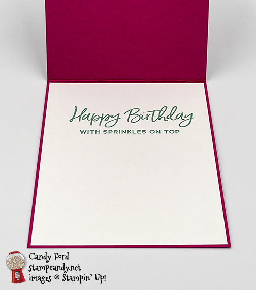 Ice Cream Corner shaker card with Sprinkles #stampcandy