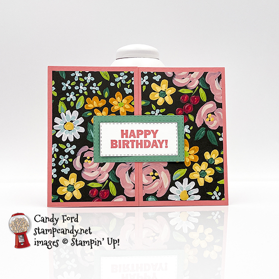Approaching Perfection stamp set. Rectangle Stitched Dies, Flower & Field DSP #stampcandy