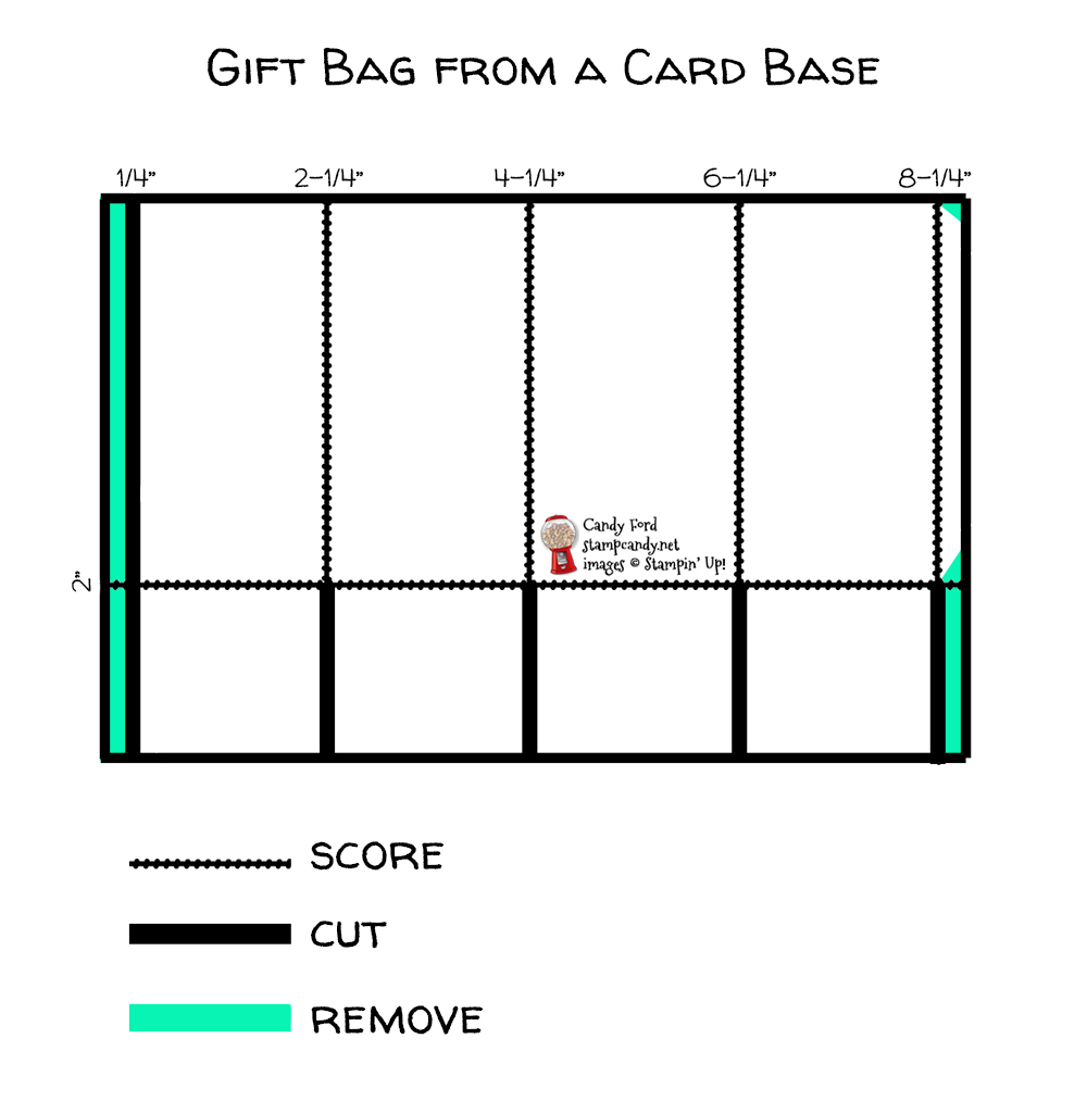 Bag Template for Here's to You Paper Pumpkin kit 03-2021 March 2021 #PPPBH #stampcandy