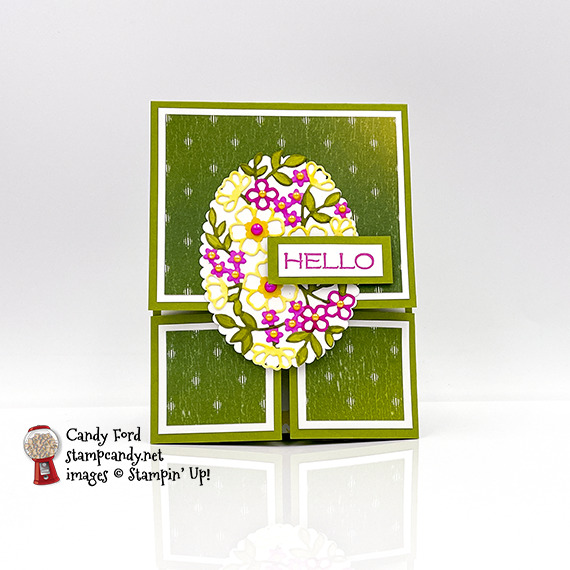 Vine Design Dutch Door Fold Card #stampcandy