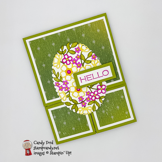 Vine Design Dutch Door Fold Card