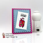 Sweet Farewell stamp set, Scalloped Contours Dies, Hammered Metal 3d Embossing Folder #stampcandy