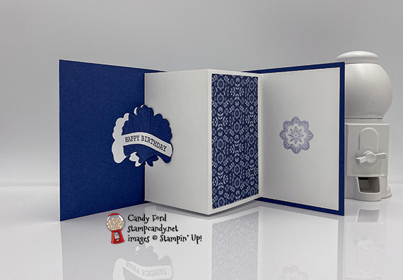Sweet Symmetry lever birthday card #stampcandy