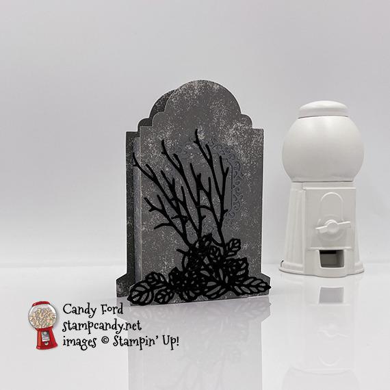 Spooky Tombstone reat Box, Intricate Leaves Dies, Ornate Frames Dies #stampcandy
