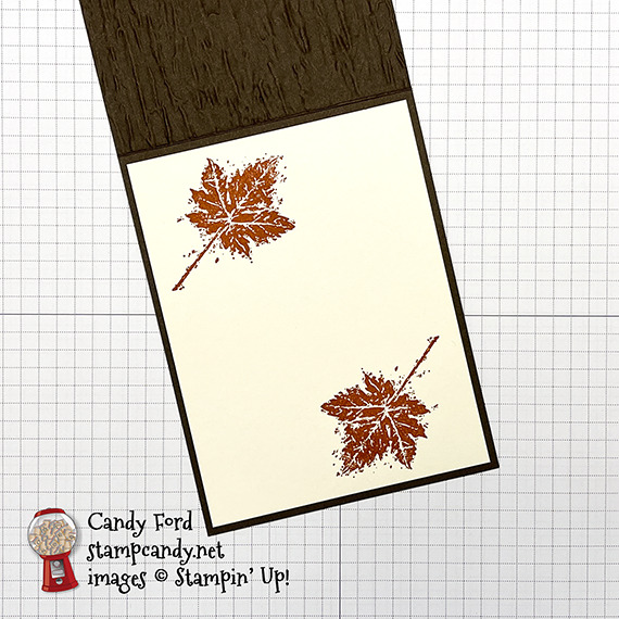 Gorgeous Leaves, Pretty Pumpkins, thankful card #stampcandy