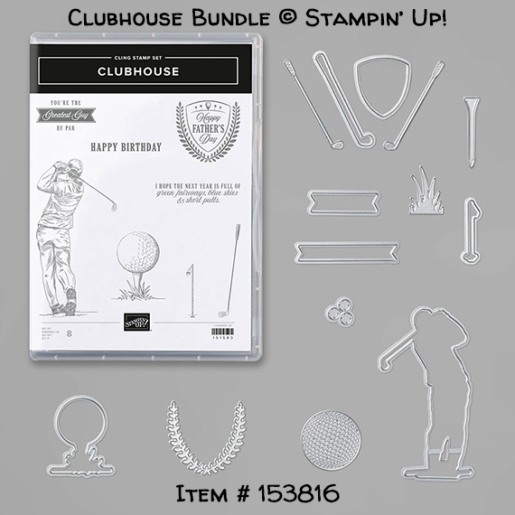 Clubhouse Bundle (Clubhouse stamp set and Golf Club Dies) from Stampin' Up!
