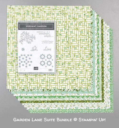 Garden Lane Suite Bundle © Stampin' Up! (Verdant Garden stamp set and Garden Lane Designer Series Paper)