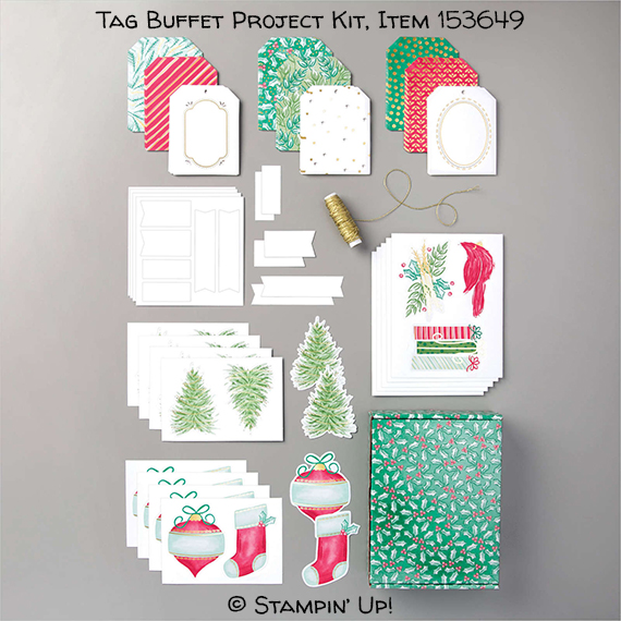 Tag Buffet Project Kit, Item 153649, Stampin' Up! #stampcandy